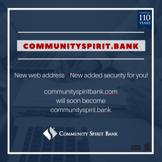 Web Address Change to .Bank Domain